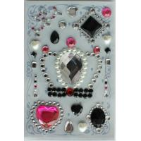 Customized Recollections Rhinestone Stickers , Small Rhinestone Crown Stickers for sale