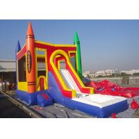 Castle Type PVC Tarpaulin Inflatable Jumping Castle With Slide Inflatable Bouncer Castle Manufactures