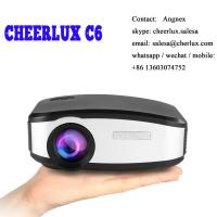 CHEERLUX C6 mini projector HD Native 800*480 1200 lumens led lcd best for home theater Manufactures