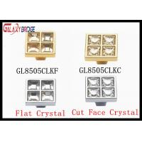 Durable Square Crystal Drawer Handles And Knobs 96mm / 128mm / 160mm Size Manufactures