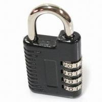 Patented Zinc Four-digit Padlock, Measures 80 x 43 x 13mm, Customized Logos are Welcome Manufactures