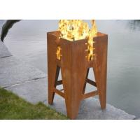 Durable Outdoor Corten Steel Fire Pit Barbecue Customized Size Available Manufactures