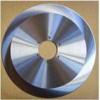 Solid Carbide Tipped Cloth Cutting Knife , Round Rotary Cutter Blades Manufactures