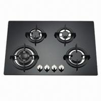 Gas Hob with 4-burner Glass Panel Manufactures