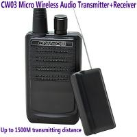 CW03 Micro Wireless Audio Transmitter+Receiver Listening Bug 500M Remote Sound Monitor Manufactures