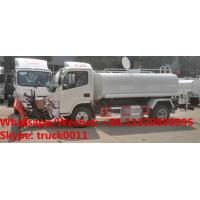 Quality New Diesel dongfeng 5000Liters 5CBM 5tons 5MT Water tank for sale, customized dongfeng 5m3 water tank with snow removal for sale