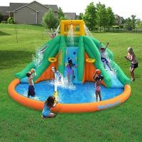 Kids PVC Giant Inflatable Water Slide With Swimming Pool SGS Certification Manufactures