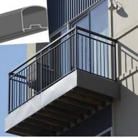Outdoor Aluminum Hand Railings For stairs , exterior hand railings Manufactures