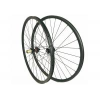 29ER Carbon MTB Wheels 27MM*23MM Clincher T700 / T800 With Triangle Design Manufactures
