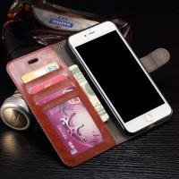 Wallet Stand Leather Protective Case , Anti - Dirt Iphone 7 Plus Leather Wallet Case Manufactures