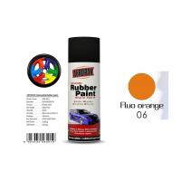 400ml Rubber Coat Spray Paint With Fluo Orange Color APK-8201-6 Manufactures