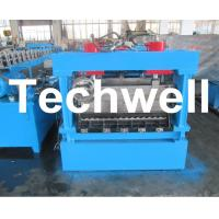 1250mm Material Width, Steel Metal Corrugated Panel Forming Machine With Punching Manufactures