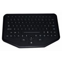92 key sealed rugged silicone rubber industrial keyboard with trackball for Vehicle use Manufactures