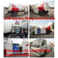 CLW brand 5m3 mini lpg tank trucks with refilling system, 2tons mini CLW cooking gas dispensing truck for gas cylinders Manufactures