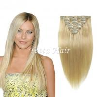 China Brazilian Straight Clip In Pre Bonded Hair Extensions No Any Bad Smell on sale