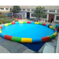Good Tension Family Round Inflatable Swimming Pool Fireproof For Children Manufactures