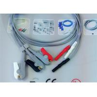 Compatible Din Style Safety 3 Lead Ecg Cable , Grabber AHA Ecg Lead Wires Manufactures