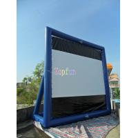 Movable Indoor / Outdoor Inflatable Movie Screen / Blow Up TV Screen Gor Backyard / Amusement Park Manufactures