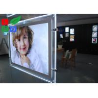 Cool White 8000K LED Crystal Light Box A3 A4 Poster Size For Real Estate Store Display Manufactures