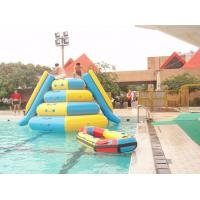 0.9mm Pvc Inflatable Water Parks Tarpaulin Outdoor  Jumping Tower with 2 Slides Manufactures