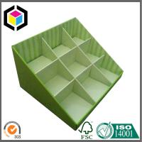 Quality Green Color Corrugated Display Counter Box; Recyclable Cardboard Display Box for sale