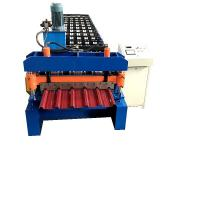 Buy cheap Trapezoidal Sheet Cold Roll Forming Machine PPGI Metal Roof Forming Machine from wholesalers