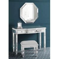 Living Room Mirrored Console TableWith Mirror Stool Black Lacquer Painting Manufactures