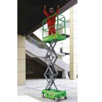 Platform Height Max 3m MINI Manual Pushing Mobile Scissor Lift with Loading Capacity of 240kg Manufactures