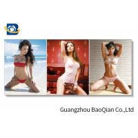 Eco - Friendly Material Lenticular Flip Beautiful Sexy Girl 3D Picture Wall Hanging Art Manufactures