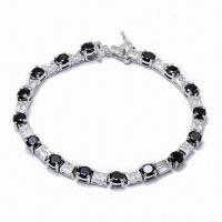 Fashionable Bracelet, Made of Sterling Silver, Customized Designs are Accepted Manufactures