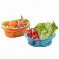 Fruit Baskets, Made of PP, FDA Certified, Customized Designs and Colors are Accepted Manufactures