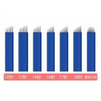 12, 13, 14, 16, 17, 18 and 18U Blue Microblading Disposable and Sterile Tattoo Needles Manufactures