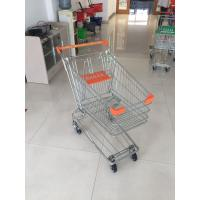 Buy cheap Low Carbon Metal Wire Shopping Trolley Cart 100L With 4 Swivel 4 Inch Autowalk Casters from wholesalers