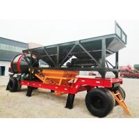 Self Loading Portable Mobile Concrete Plant 30m3/H Capacity 1300mm Discharging Height Manufactures
