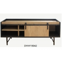140cm Width 40cm Depth  Brown And Black Modern TV Stand Manufactures