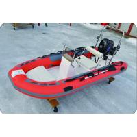 Quality 1.2mm South Korea PVC FRP Rescue Inflatable RIB Boats For Fishing Swimming 3 Chamber for sale