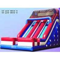 Durable Inflatable Sports Games , Fun PVC Tarpaulin Bouncer Slide For Kids Manufactures