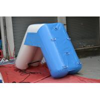 Summer PVC Tarpaulin Inflatable Water Floats Small Blue Water Slide Manufactures