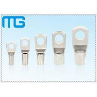 High Voltage Tinned Copper Cable Lugs 36KV 18mm - 200mm Length Ring Type Lugs Manufactures