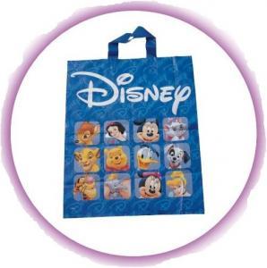 Fashion Blue Disney Soft Loop Plastic Handle Bags Promotional Manufactures
