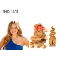 Body Wave Blonde Malaysian Hair Bundles For Black Woman Color 27 No Bad Smell Manufactures