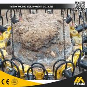 Excavator Tooling Round Concrete Pile Breaker , Cutting Diameter 1050mm KP315A Manufactures