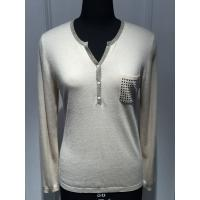Computer plant knitted Long Sleeve Ladies Pullover Sweaters With Pockets and Lurex Manufactures