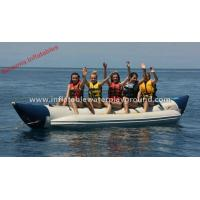 Large Water Games Inflatable Towables , Single Lane Sea Towable Boat Tubes Manufactures