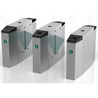 Automatic Brush Motor Flap Barrier Gate, Indoor / Outdoor Optical Turnstile Manufactures