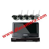 4ch Plug And Play 10 Inch LCD Screen Wireless NVR Kit CCTV System 960P HD WIFI IP Camera Outdoor IR Security Camera Manufactures