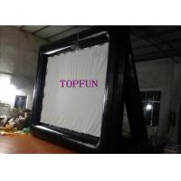 Black / White Airblown Inflatable Movie Screen With Project  5 x 4 m Manufactures