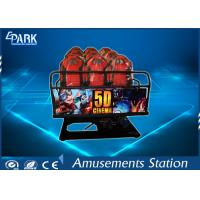 Quality Truck Mobile Electronic 5D Movie Theater Simulator 2 Epson Projectors 6 Seats for sale