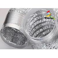 HVAC different length available -20°C~120°C aluminum foil flexible ducting Manufactures