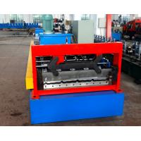 China Automatical Steel Roof Panel Roll Forming Machine Use Cr12 Cutting Blade by Japan Panasonic PLC Control on sale